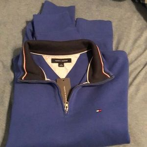 Tommy Hilfiger royal blue zip sweater
